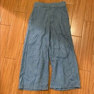 madewell pull on wide leg crops